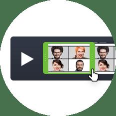 Zrzut ekranu przedstawiający proste edytowanie nagrań webinarów za pomocą narzędzi ClickMeeting